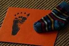Fußabdruck eines verstorbenen Kindes