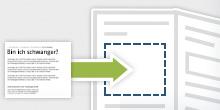 Grafik: Kopieren und einfügen © BZgA/HN